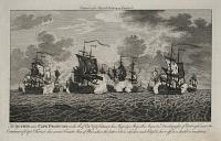 The Action near Cape Francois on the 21st of Oct.re 1757 between his Majesty's Ships the Augusta, Dreadnought, & Edinburgh, under the Command of Capt.n Forrest,