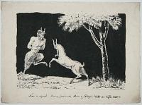 [A scene from mythology: Satyr and Goat.]