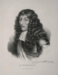 [France] Le Grand Conde.  Louis debourbon [facsimile signature.]