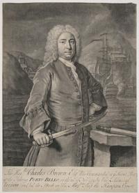 The Honble: Charles Brown Esqr. Who Commanded in ye Second Post at the Takeing Porto-Bello, on the 21st. of Novr. 1739. (by Vice Admiral Vernon) and led the Attack on His Majties. Ship the Hampton Court.
