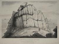 A View Of The Celebrated Logan Rock near the Land's End in Cornwall,