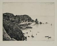 Creux Harbour, Sark. [pencil.]