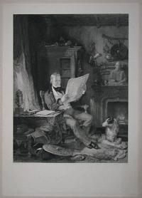[Sir Walter Scott, Bar.t in his Study at Abbotsford.]