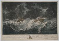 To Sir Peter Parker Bart. Vice Admiral of the White. This Representation of the distressed situation of his Majestys Ships Hector and Bristol when Dismasted in the Great Hurricane Oct.r 6th. 1780.