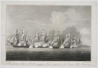 The Spartan, Capt.n J. Brenton, engaging a French squadron in the Bay of Naples, May 3rd, 1810.