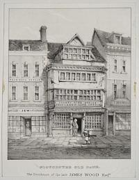 Gloucester Old Bank. The Residence of the late James Wood Esq.re.