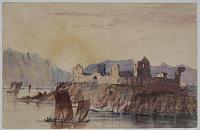 [Ruins of the Convent of Agora_ Spain_ [in ink on verso.]