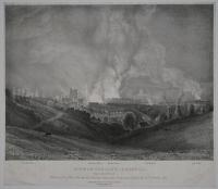 View of the City of Bristol, from Clifton Wood. With the effect of the Fires which took place during the Riots on the Night of the 30th, of October, 1831.