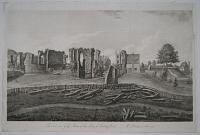 The East view of the Ruins of the Abbey of Reading, Berks. ___