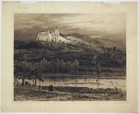 Assisi October Evening [pencilled outside plate.]