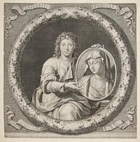[The Youthful Jesus with his mother's portrait.]