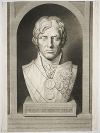 [A marble bust of Admiral Lord Nelson carved by The Hon. Anne Seymour Damer, at the Guildhall, London.]