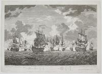 The Glorious Action off Cape Francois 21 Octo.br 1757, between Three English, & Seven French Ships of War wherein the latter were entirely defeated.