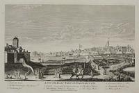 A South East View of Portsmouth. 1. South Sea Castle. 2. The New Hospital for Sick Seamen. 3. Block house fort. 4. Gosport. 5. The Saluting Battery & Magazine. 6. The Spur Battery. 7. The King's Baston. 8. Governour's House. 9. Portsmouth Church.