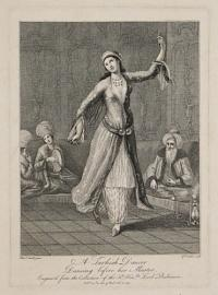 A Turkish Dancer. Dancing before her Master.
