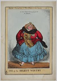 One of the Select Vestry!!! Parish Characters in Ten Plates by Paul Pry Esq.r----Pl 7.