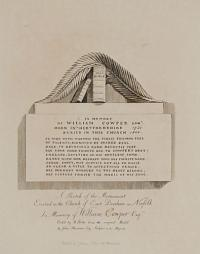 A Sketch of the Monument Erected in the Church of East Dereham in Norfolk in Memory of William Cowper Es.re