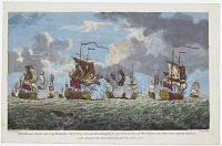 The Glorious Action off Cape Francois Oct.r 21.st 1757 between three English, & seven French Ships of War wherein the latter were entirely defeated.