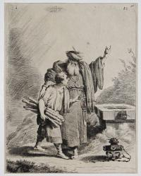[Abraham offering up his son Isaac] [37, 18, 36]
