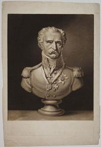 [Blucher. Copied from a Bust, Modeled at Paris, by M. Bosin.]