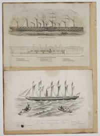 [Views of the Great Eastern and Great Britain steam ships]