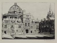 The Quadrangle. Brasenose College. Oxford. [in pencil below image.]