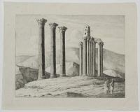 [Columns of a ruined temple, Athens.]