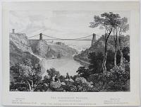 The Suspension Bridge, Intended to be Erected over the River Avon at S.t. Vincent's Rock.