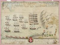 [Six of Caracogia's ships taken by the Prince of Hess near the port of La Goulette, Tunis, 24 September 1640]