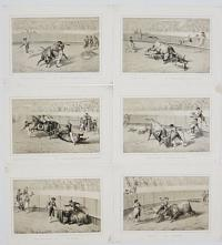 [Set of 18 Bullfighting Scenes.] España corrida de toros...