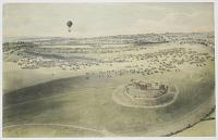 [Epsom Races. View taken in balloon. Courses d'Epsom. Vue prise en ballon.]