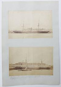 [Two photographs of The Ripou, paddle steamer.]