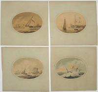 [Set of Four Marine Watercolours.]