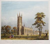 South West View of St. Nicholas Church, Lower Tooting, Surrey.