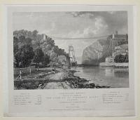 Suspension Bridge, Proposed to be erected over the Avon at St Vincent's Rocks, Clifton.