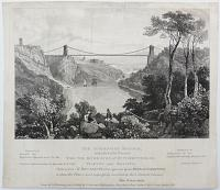 The Suspension Bridge, Intended to be erected over the River Avon at St Vincent's Rock, Clifton near Bristol.