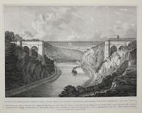 Mr William Armstrong's Design for a Chain Bridge across the River Avon, from St Vincent's Rocks to Leigh Down.