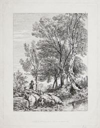 [Landscape with sheep in the vicinity of Sandhurst?]