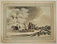 Bonaparte's Flight in Disguise, from his Ruined Grand Army in Russia 1812.