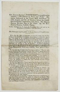 "Rev. Joseph Sidden's Postscript to a publication entitled, ""The Church of Peace and Truth."""