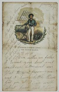 [Writing sheet.] Guardians of England's Honour. The British Seaman.