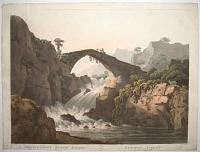 Miscellaneous British Scenery. No 2nd Plate 1st.  [Pont y- Glen near Corwen North Wales.]