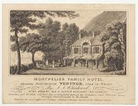 Montpelier Family Hotel, Adjoining Bonchurch, Ventnor, Isle of Wight. By J.A. Whiskard, Wine, Brandy, Ale & Porter Merchant, (from London).
