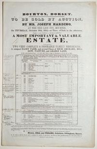 [Land auction catalogue.] Bourton, Dorset. To be Sold by Auction, by Mr. Joseph Harding, at the Red Lion Inn, Bourton,