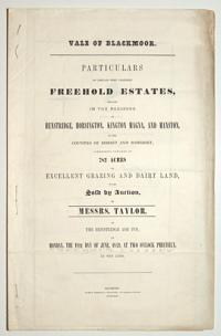 [Land auction catalogue.] Vale of Blackmoor.