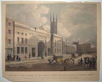 This View of the Entrance to the London Grand Junction Railway, at Skinner Street,
