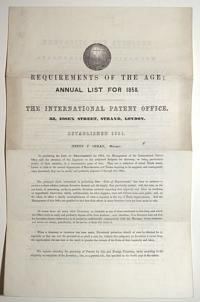 Requirements of the Age; Annual List for 1858.