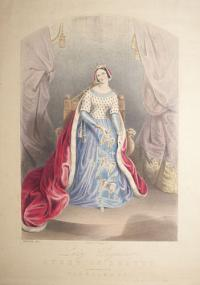 [Eglinton Tournament] Authentic Costume of Lady Seymour, Queen of Beauty, as She appeared at the Tournament.