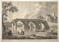 The Remains of the Senatorial Bridge, upon the Tyber; now called Ponte Rotto.