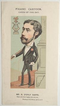 Figaro Cartoon. Cards of the Day. Mr R. D'Oyly Carte.